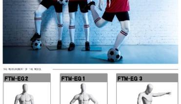 Sport Football - Dames en Heren Etalagepop - Designing Haaker