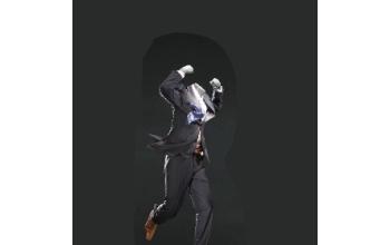 Etalagepop man in actie - Jump