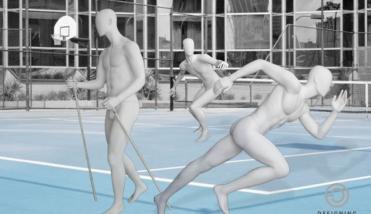 sport male - heren etalagepop - designinghaaker