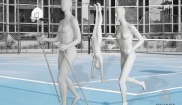 sport female - dames etalagepop - designinghaaker