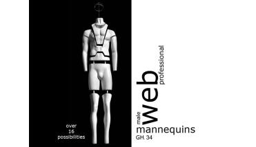 Webshop Mannequin Pro U Male - heren webshop etalagepop