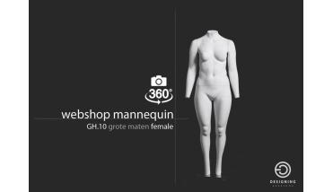 Webshop mannequin female XL - dames webshop etalagpop
