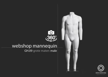 WEBSHOP MALE XL - heren webshop etalagepop